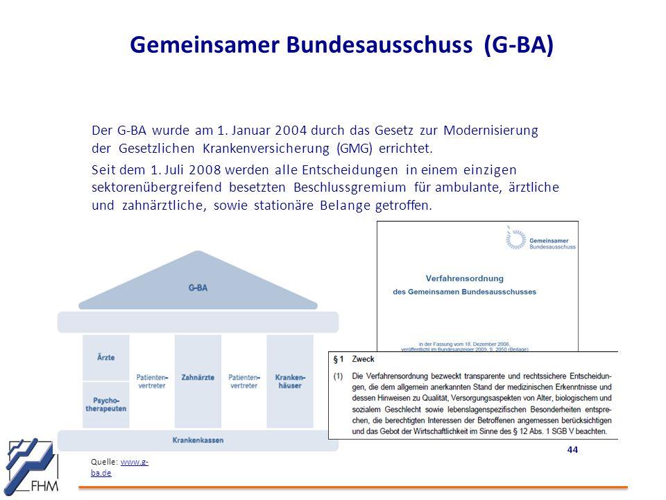 Gemeinsamer Bundesausschuss (G-BA)