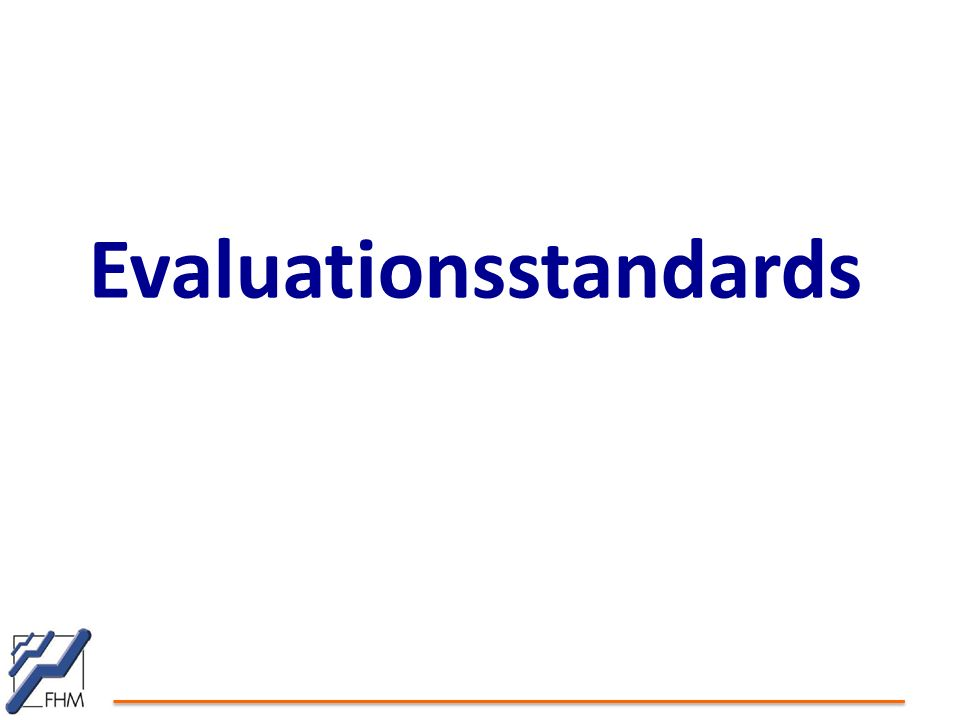 Evaluationsstandards