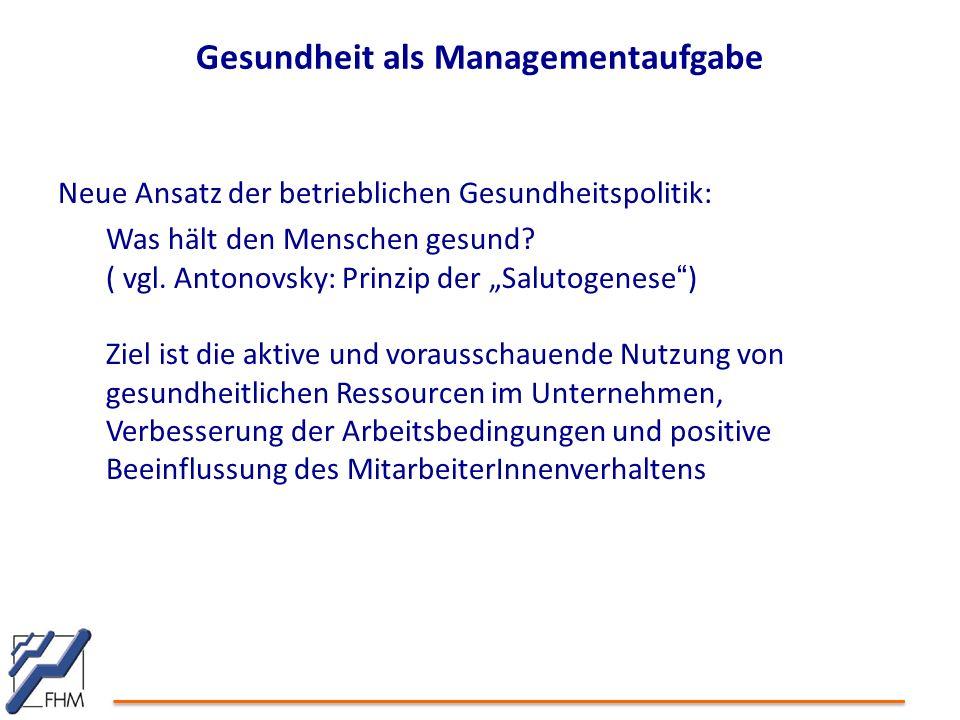 Gesundheit als Managementaufgabe