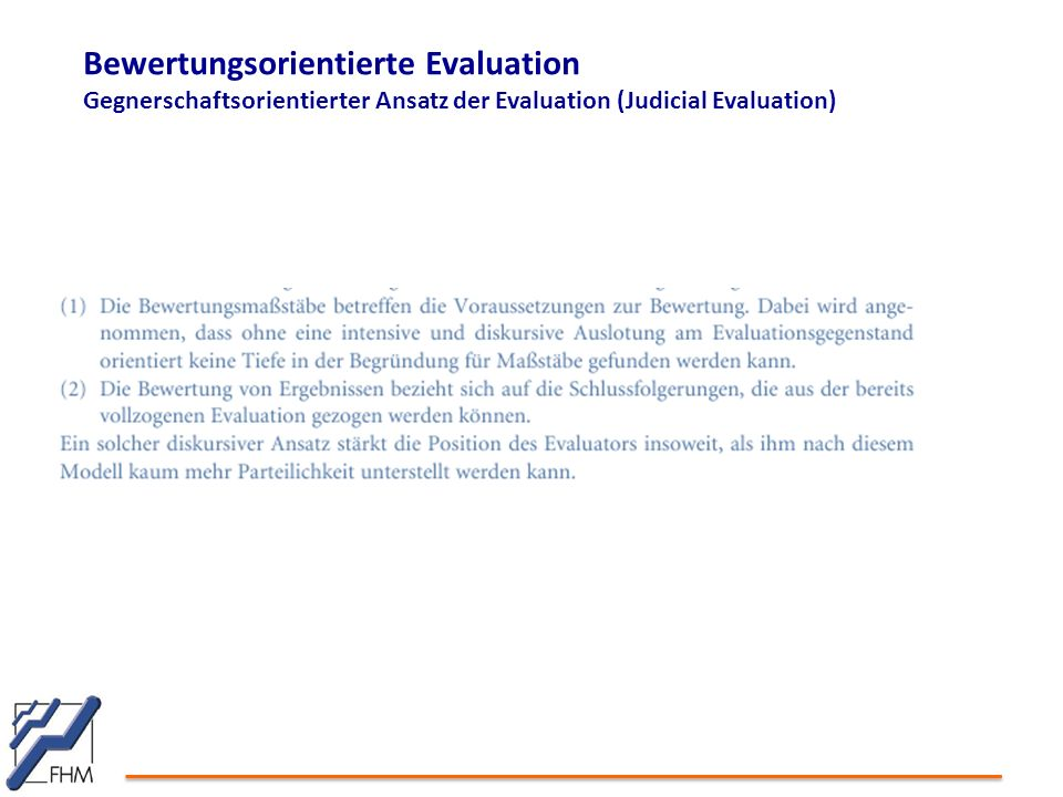 Bewertungsorientierte Evaluation