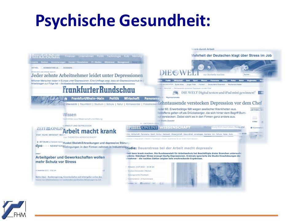 Psychische Gesundheit: Medienresonanz