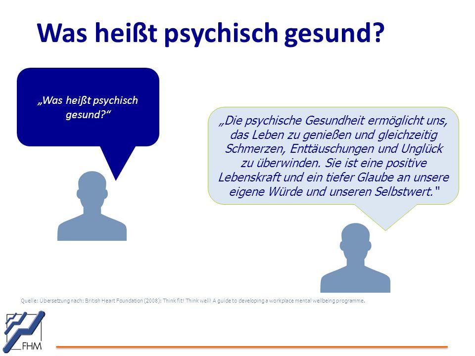 Was heißt psychisch gesund