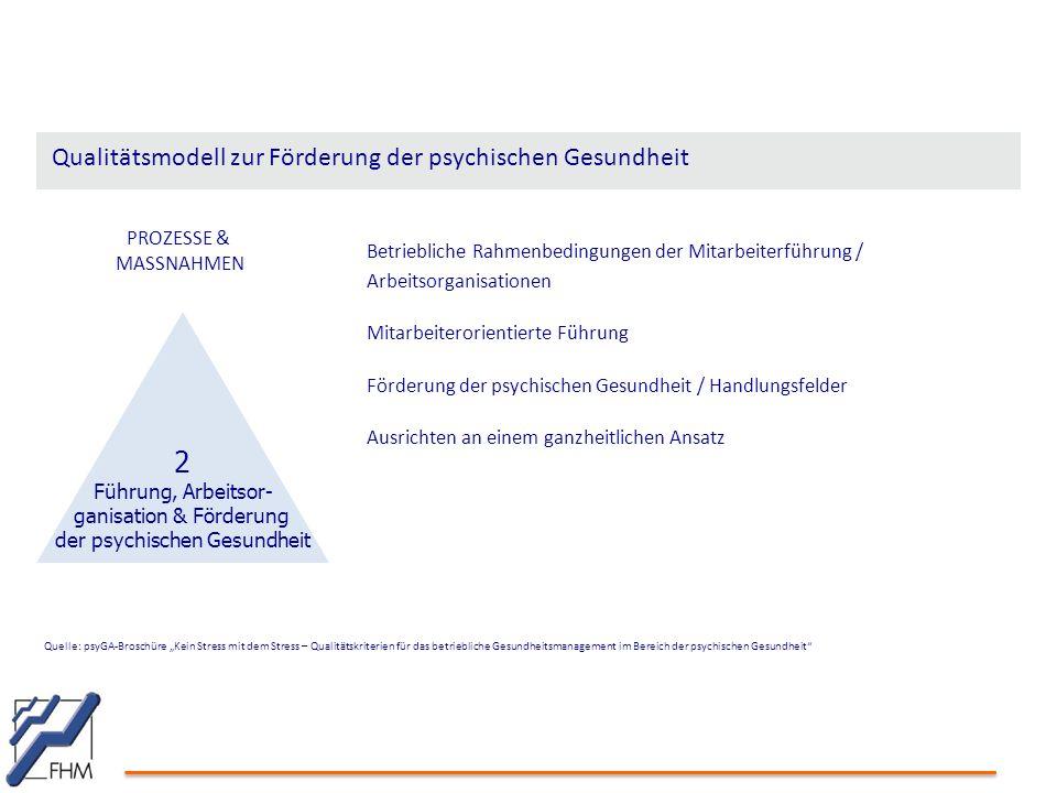 Qualitätsmodell zur Förderung der psychischen Gesundheit