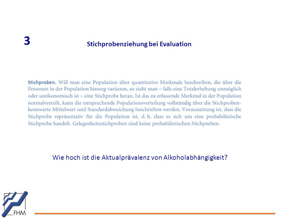 3 Stichprobenziehung bei Evaluation