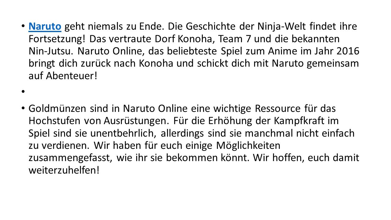 Naruto geht niemals zu Ende