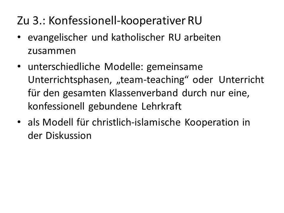 Zu 3.: Konfessionell-kooperativer RU