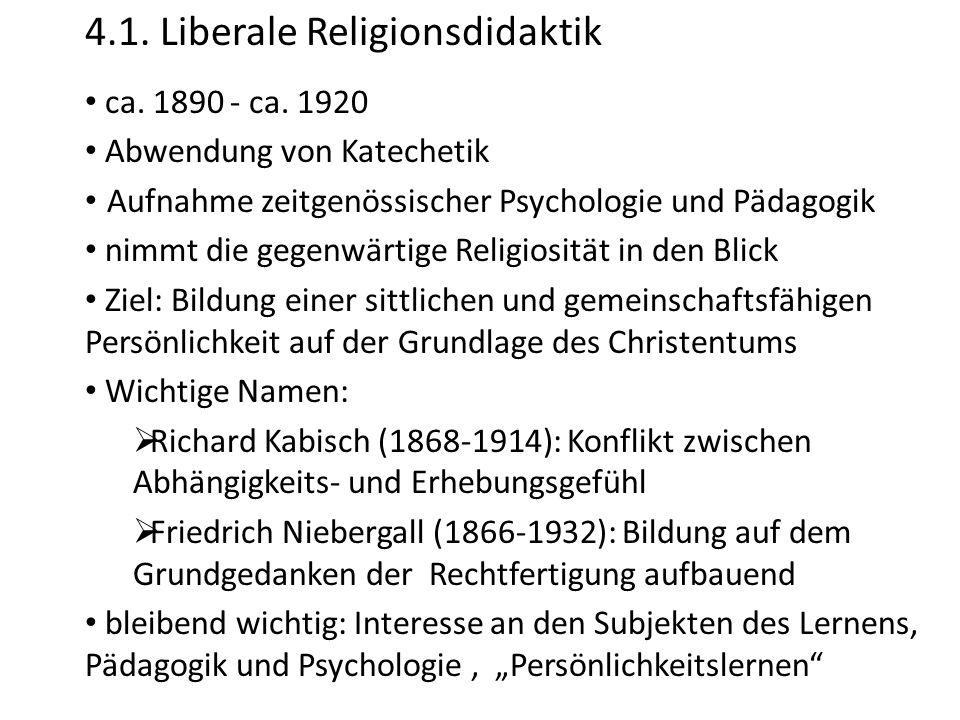 4.1. Liberale Religionsdidaktik