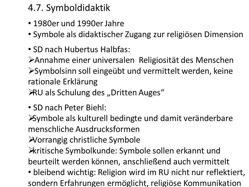 4.7. Symboldidaktik 1980er und 1990er Jahre