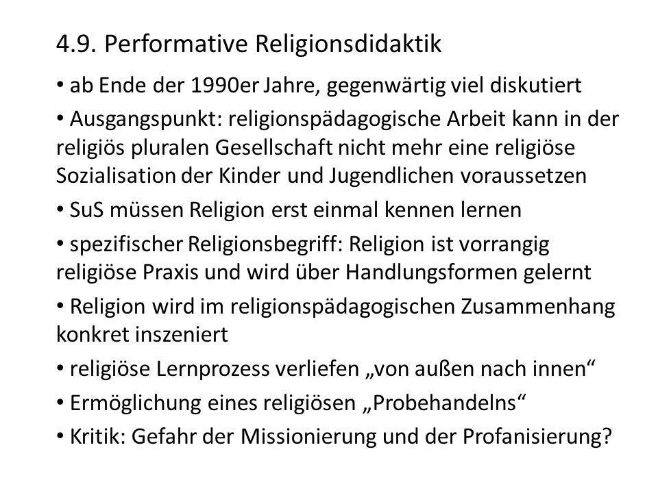 4.9. Performative Religionsdidaktik