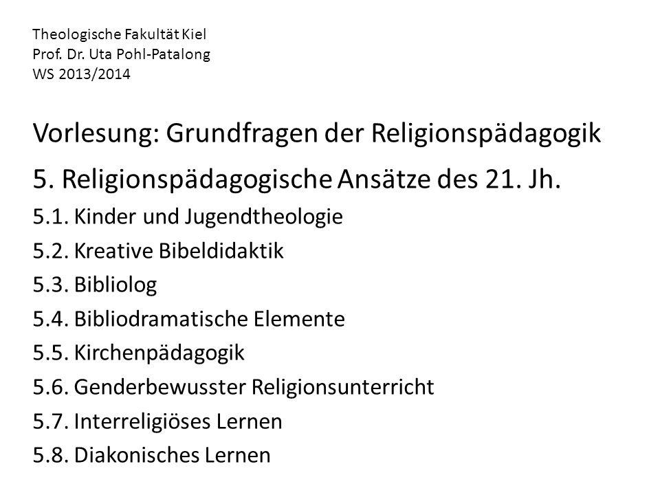 Vorlesung: Grundfragen der Religionspädagogik