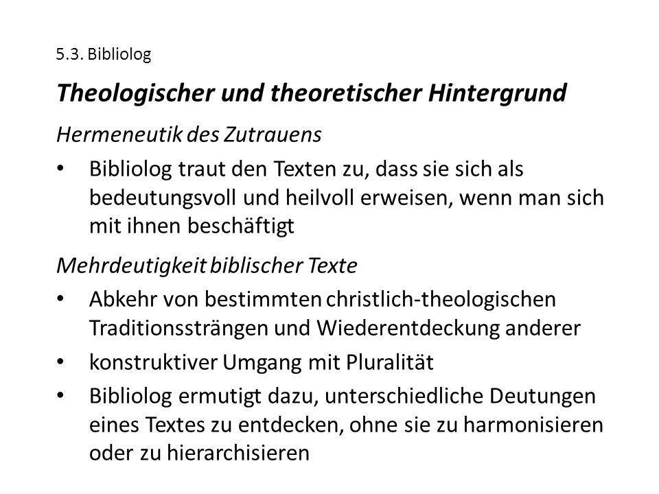 Theologischer und theoretischer Hintergrund