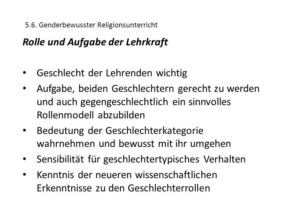5.6. Genderbewusster Religionsunterricht