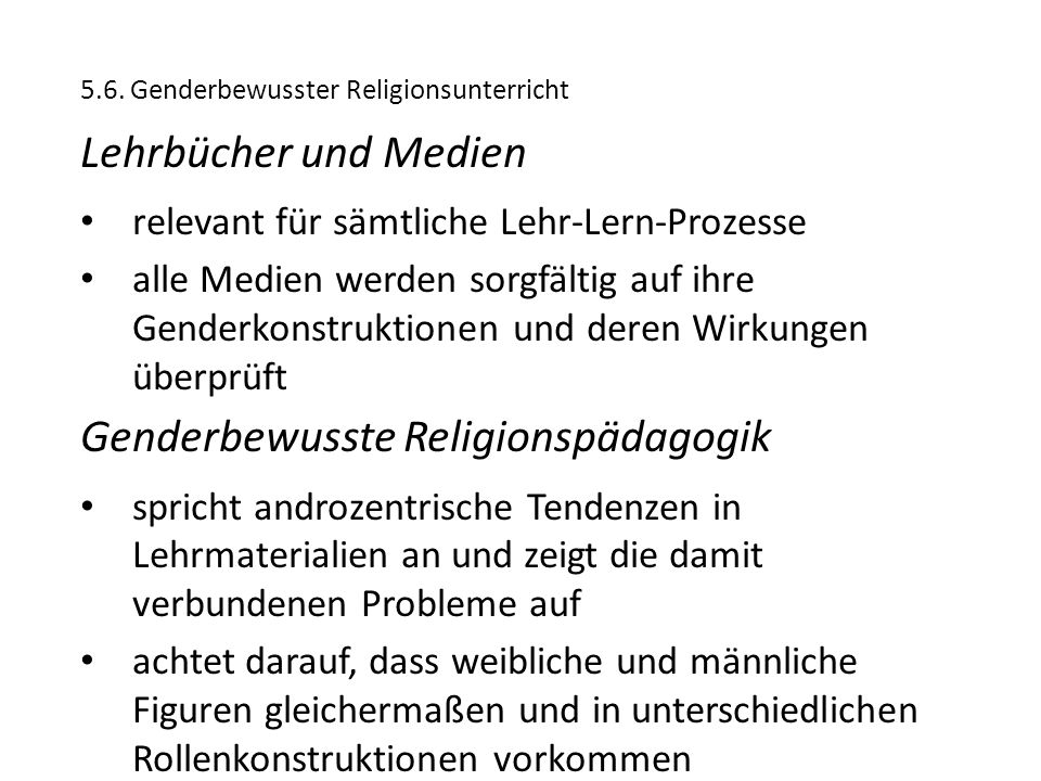 Genderbewusste Religionspädagogik