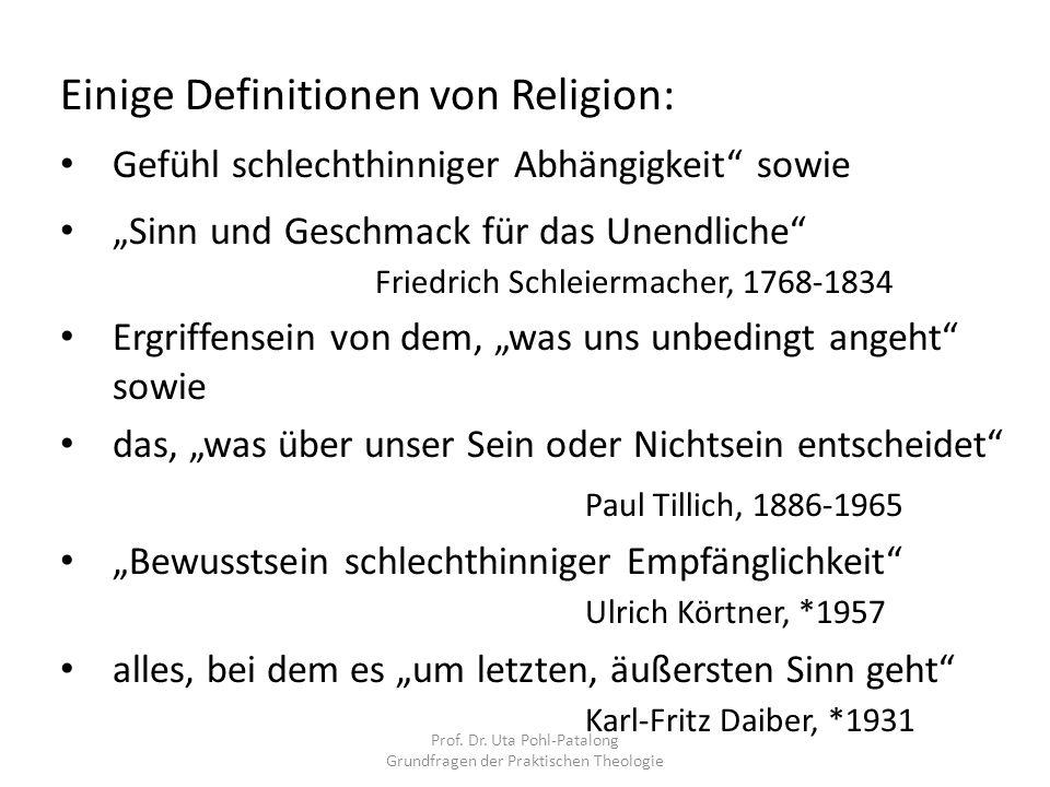 Prof. Dr. Uta Pohl-Patalong Grundfragen der Praktischen Theologie