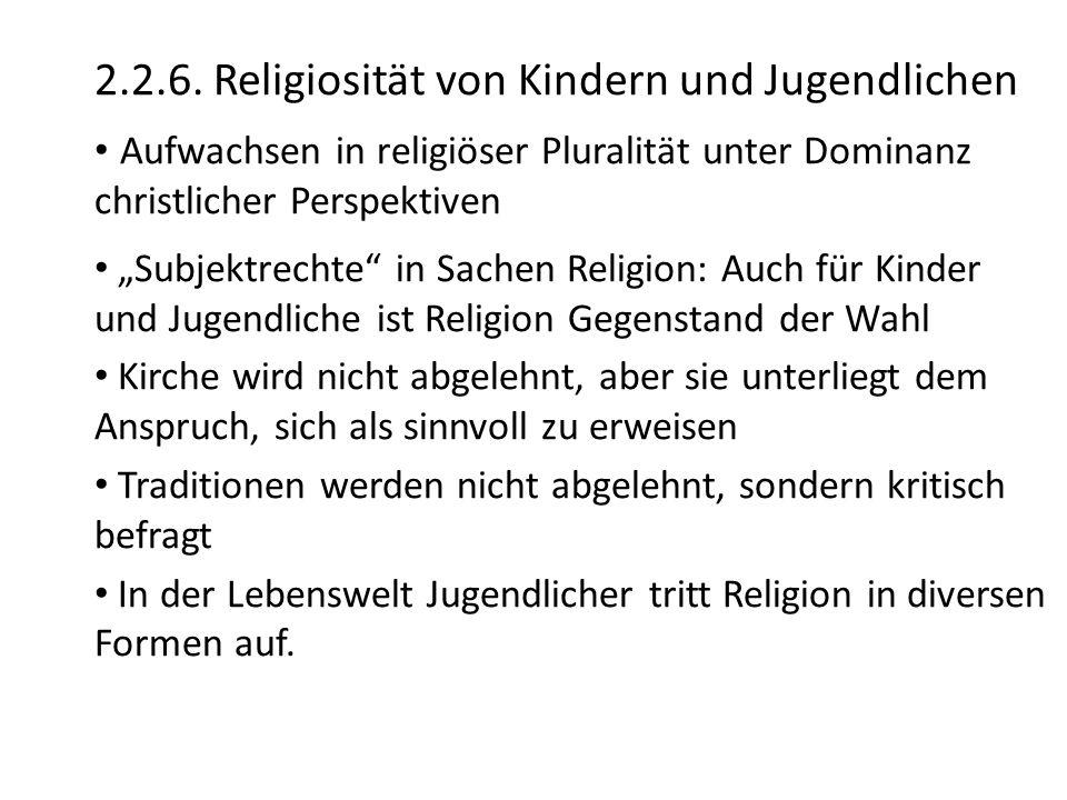 2.2.6. Religiosität von Kindern und Jugendlichen