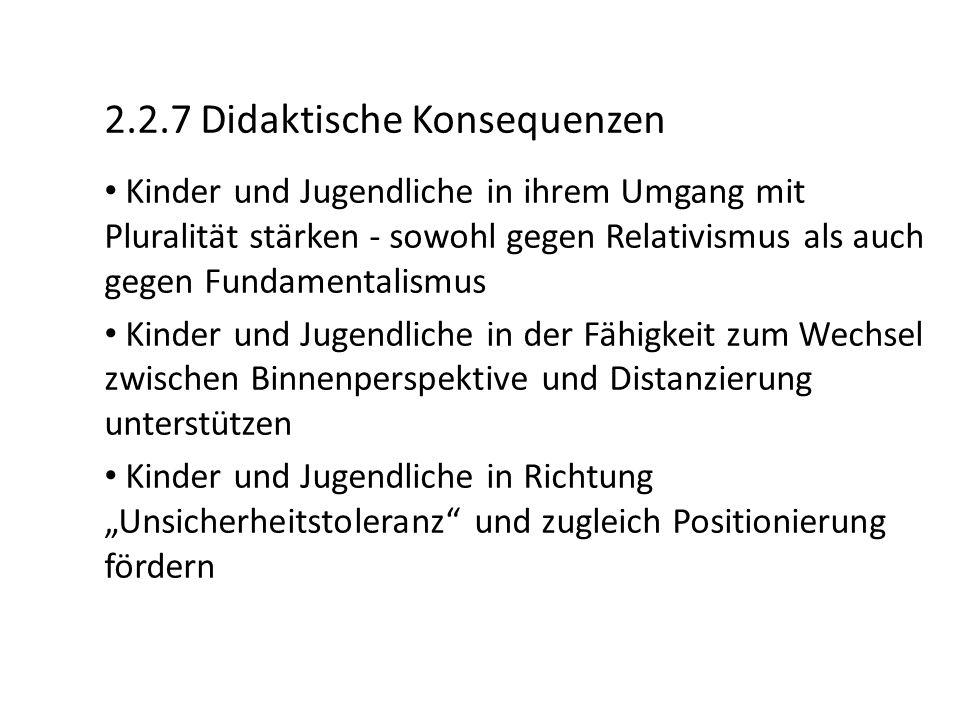 2.2.7 Didaktische Konsequenzen