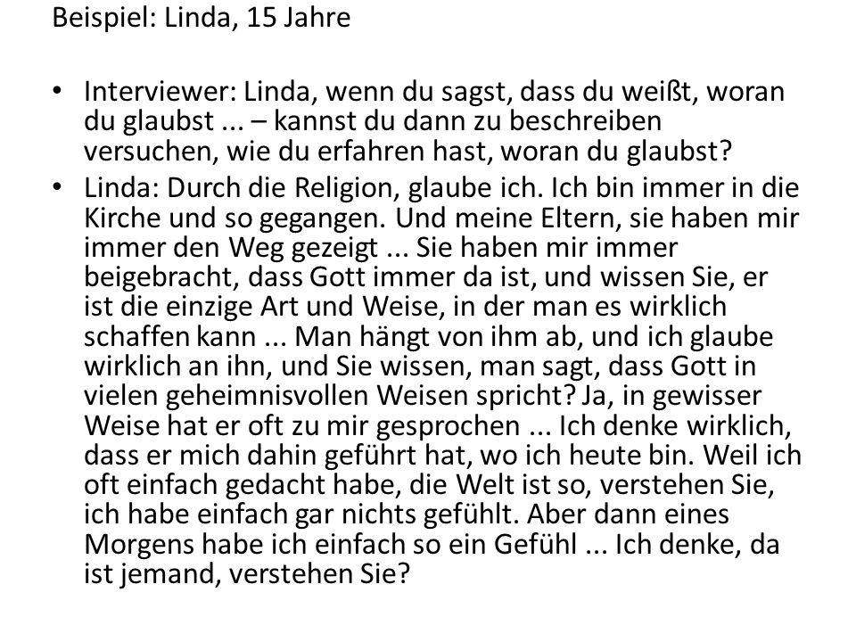 Beispiel: Linda, 15 Jahre
