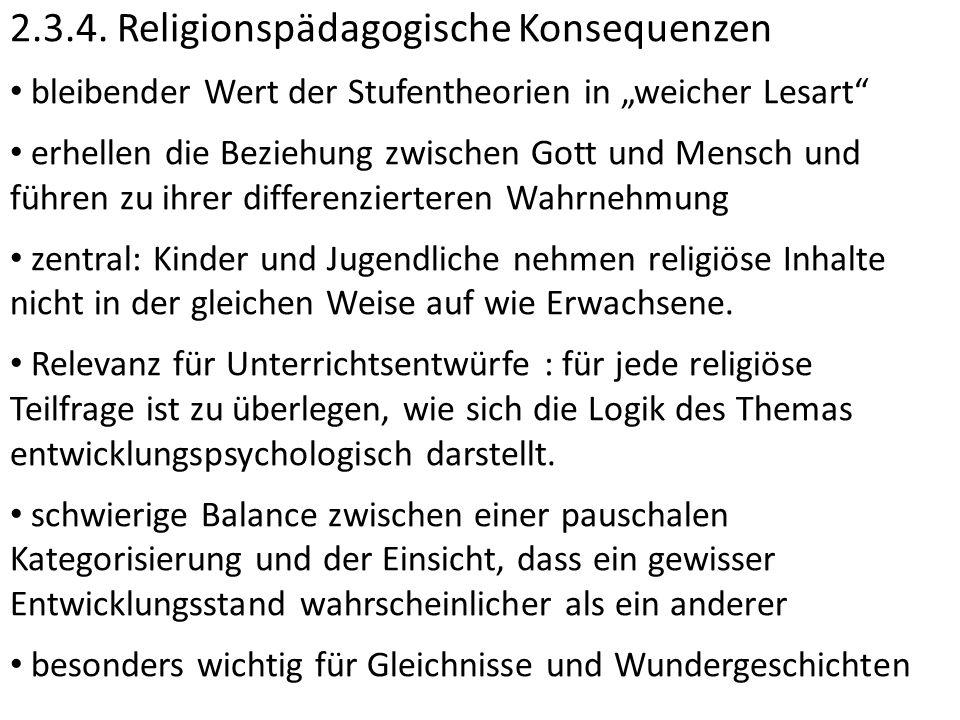 2.3.4. Religionspädagogische Konsequenzen