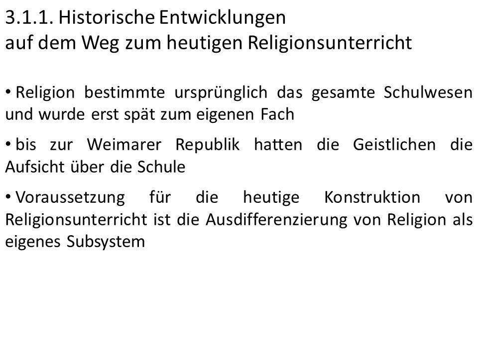 3.1.1. Historische Entwicklungen