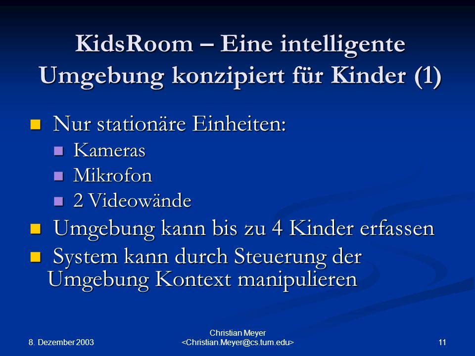 KidsRoom – Eine intelligente Umgebung konzipiert für Kinder (1)