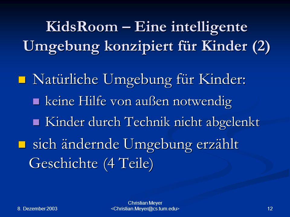 KidsRoom – Eine intelligente Umgebung konzipiert für Kinder (2)