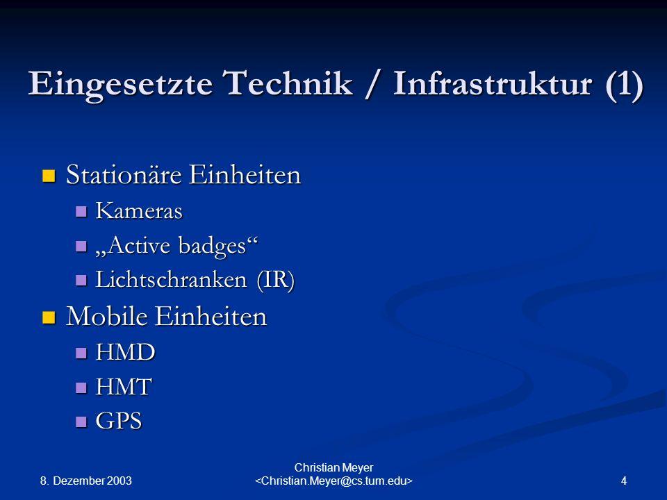 Eingesetzte Technik / Infrastruktur (1)