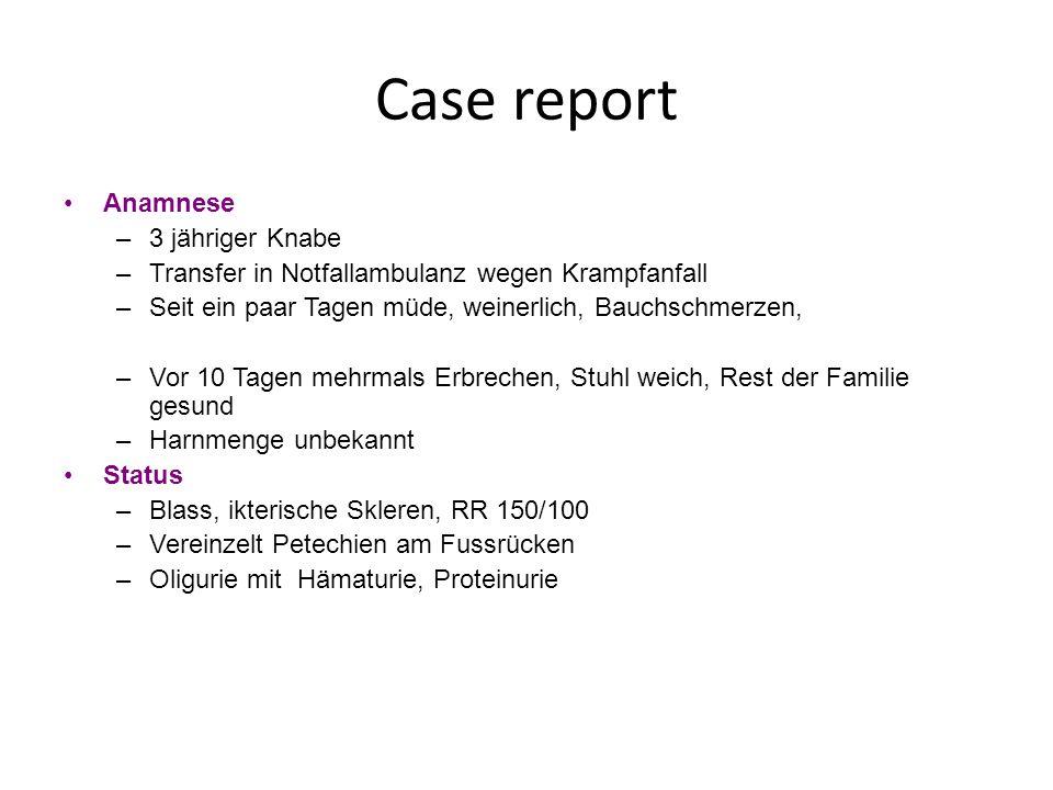 Case report Anamnese 3 jähriger Knabe