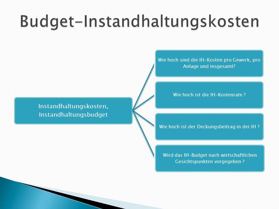 Budget-Instandhaltungskosten