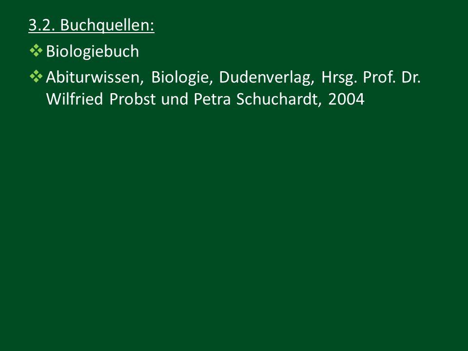3.2. Buchquellen: Biologiebuch. Abiturwissen, Biologie, Dudenverlag, Hrsg.