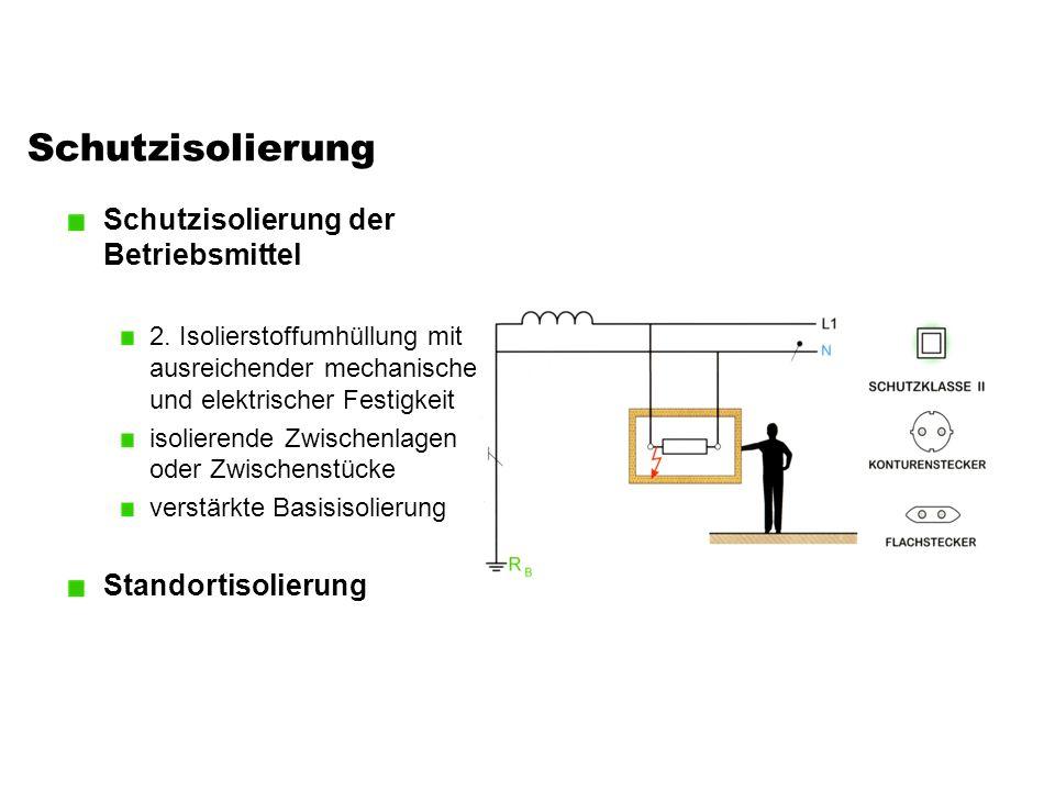 Schutzisolierung Schutzisolierung der Betriebsmittel