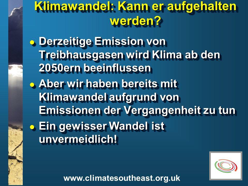 Klimawandel: Kann er aufgehalten werden