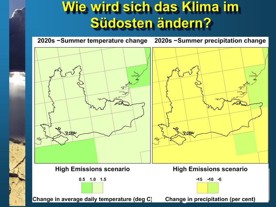 Wie wird sich das Klima im Südosten ändern
