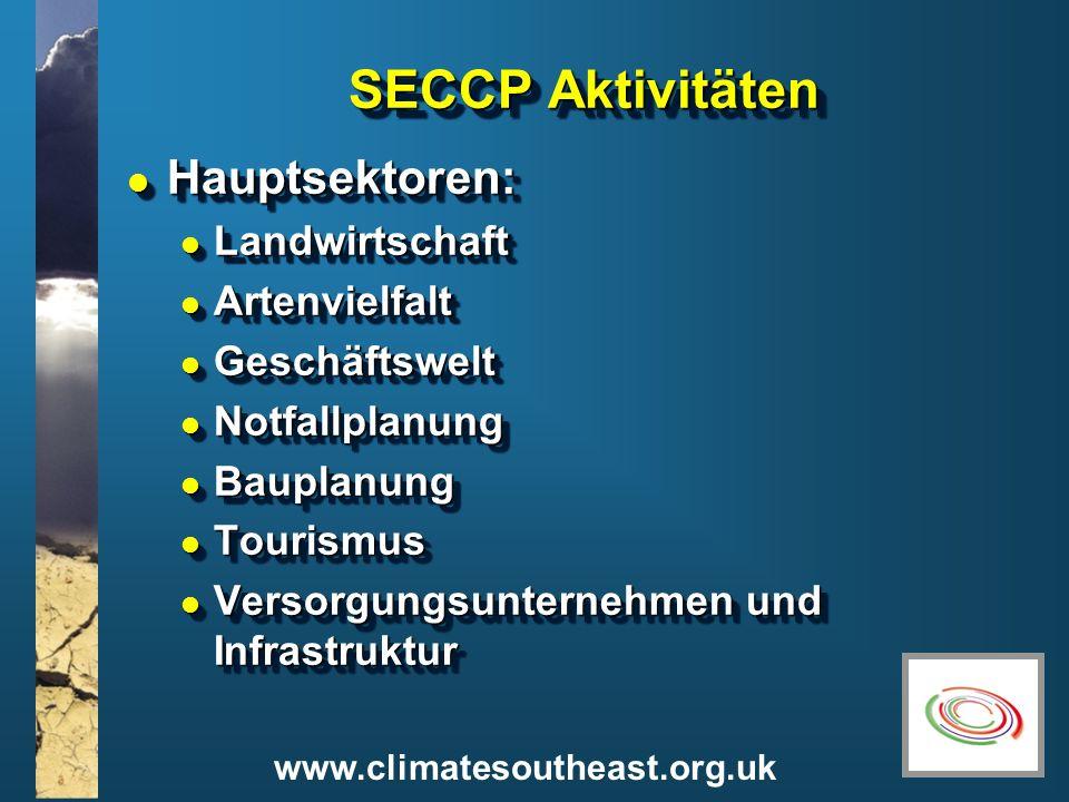 SECCP Aktivitäten Hauptsektoren: Landwirtschaft Artenvielfalt