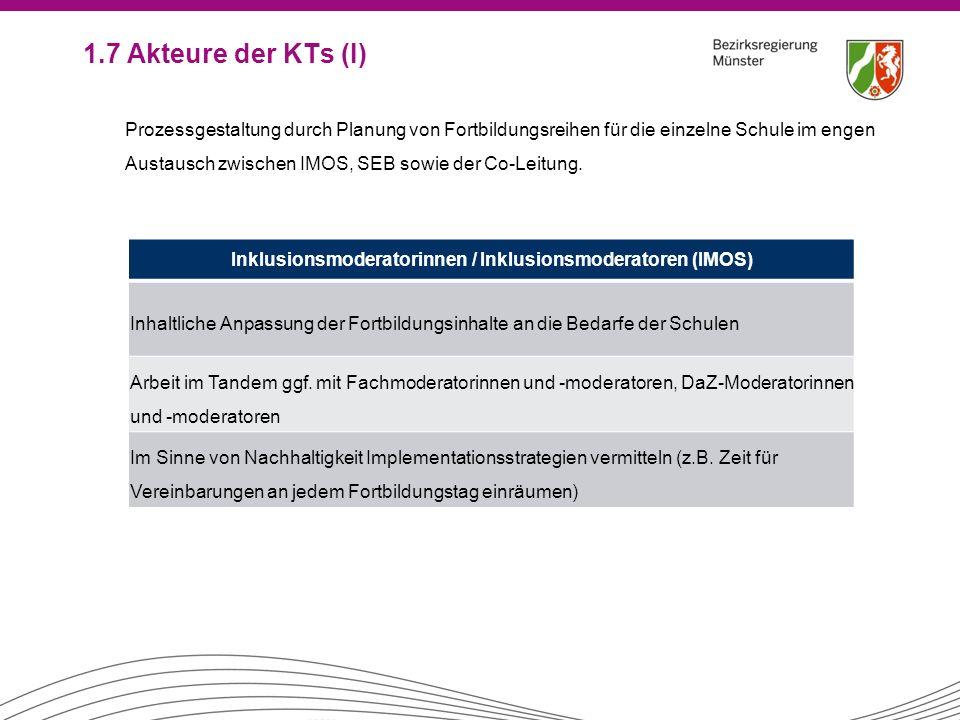 Inklusionsmoderatorinnen / Inklusionsmoderatoren (IMOS)
