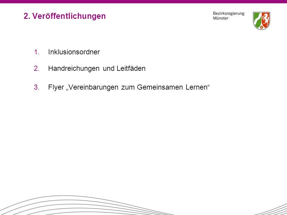 2. Veröffentlichungen Inklusionsordner Handreichungen und Leitfäden