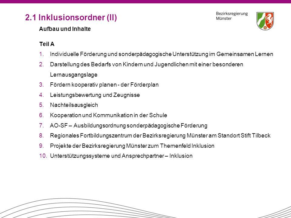 2.1 Inklusionsordner (II)
