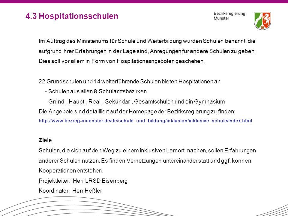 4.3 Hospitationsschulen