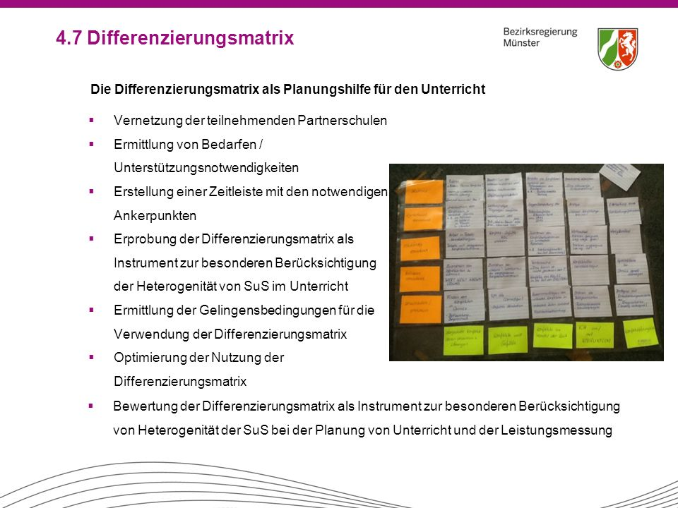 4.7 Differenzierungsmatrix