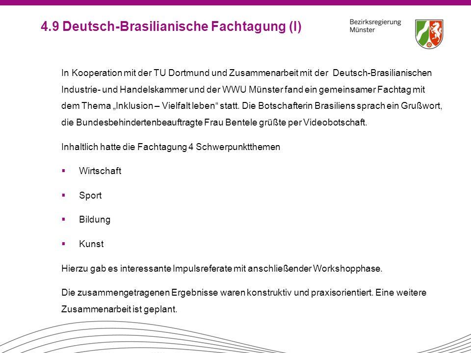 4.9 Deutsch-Brasilianische Fachtagung (I)