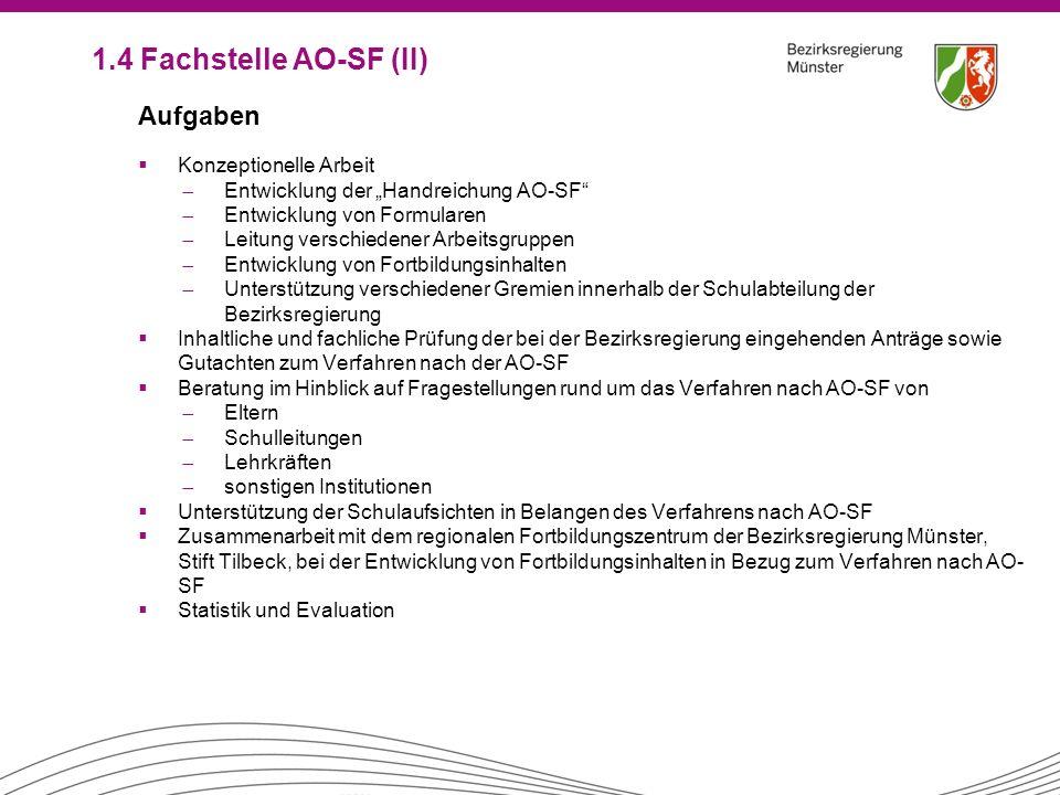 1.4 Fachstelle AO-SF (II) Aufgaben Konzeptionelle Arbeit