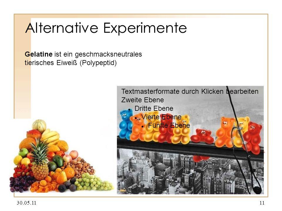 Alternative Experimente