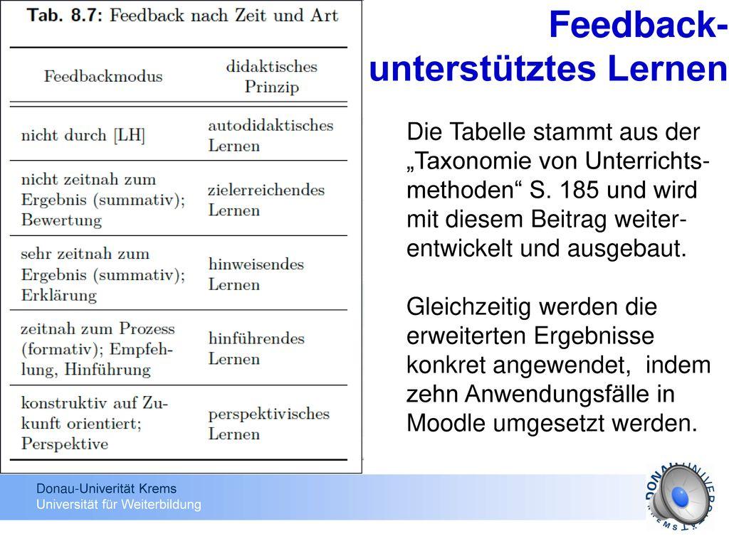 Feedback- unterstütztes Lernen