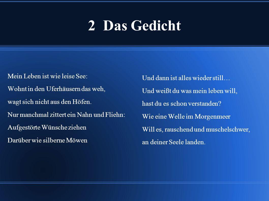 2 Das Gedicht Und dann ist alles wieder still…