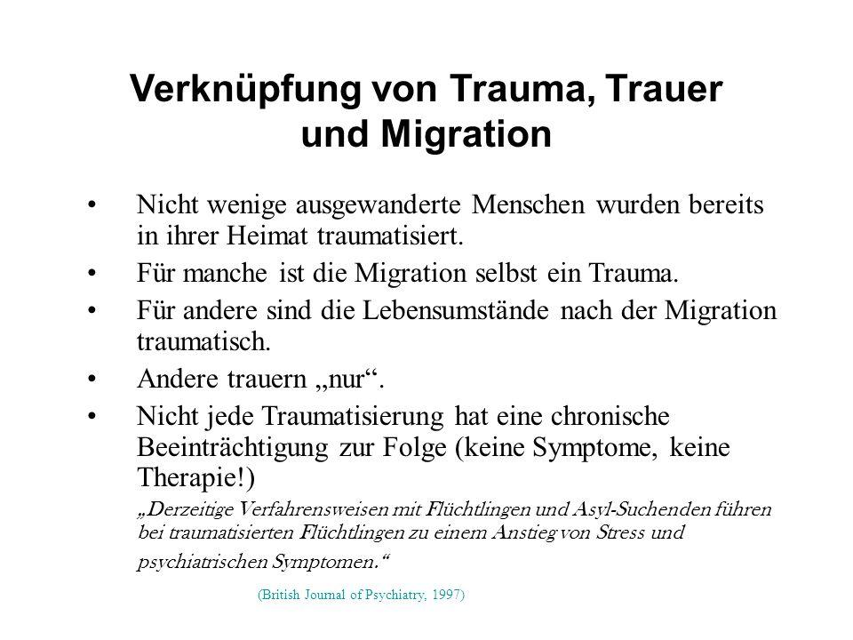 Verknüpfung von Trauma, Trauer und Migration