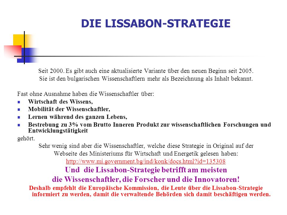 DIE LISSABON-STRATEGIE