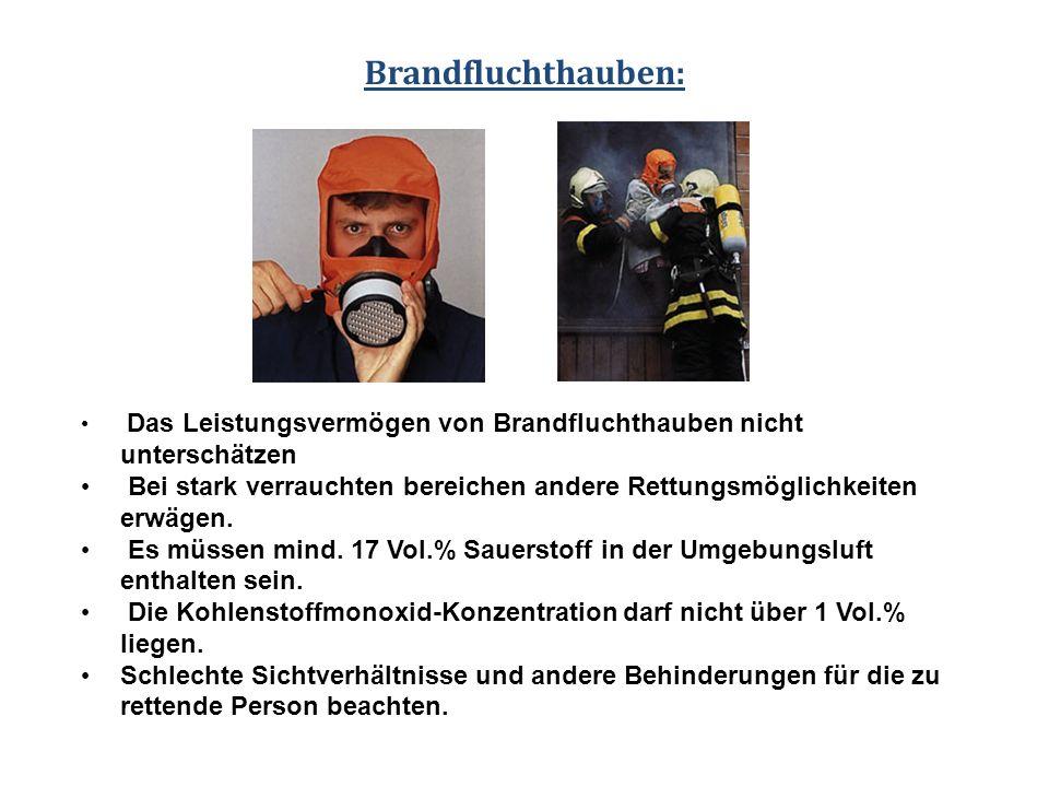 Brandfluchthauben: Das Leistungsvermögen von Brandfluchthauben nicht unterschätzen.