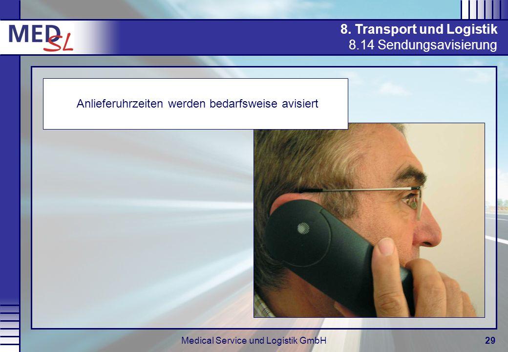 8. Transport und Logistik 8.14 Sendungsavisierung