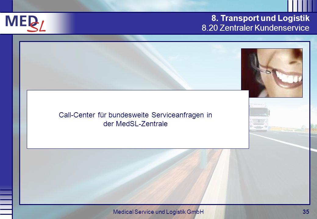 8. Transport und Logistik 8.20 Zentraler Kundenservice