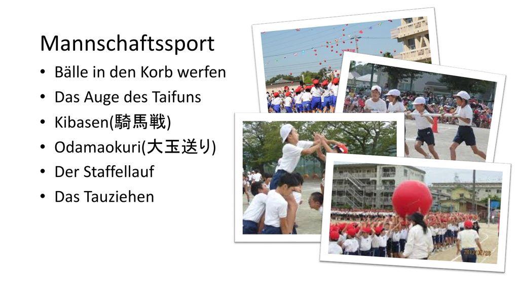 Mannschaftssport Bälle in den Korb werfen Das Auge des Taifuns