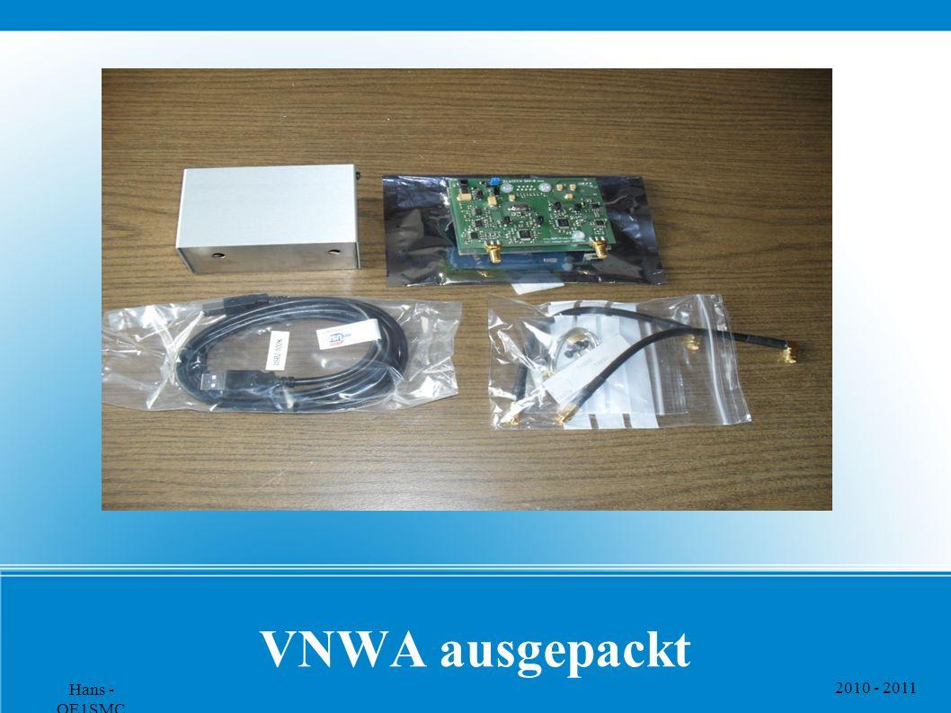 VNWA ausgepackt Hans - OE1SMC 2010 - 2011